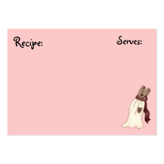 Pastery, Bakery Recipe Card Business Card Template