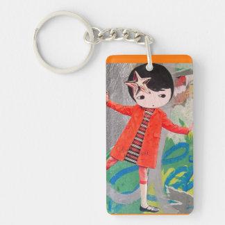 Pasteup Girl Graffiti Keychain