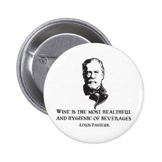 Pasteur - Wine 6 Cm Round Badge