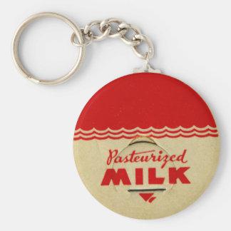 Pasteurized Milk Cap Basic Round Button Key Ring