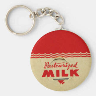Pasteurized Milk Cap Key Ring