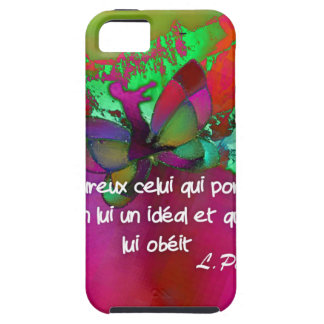Pasteur's quote.about hapiness case for the iPhone 5