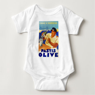 Pastis Olive - Comme a Marseille Baby Bodysuit