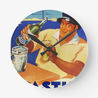 Pastis Olive - Comme a Marseille Round Clock