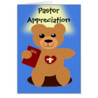 Pastor Appreciation Bible  Bear Card