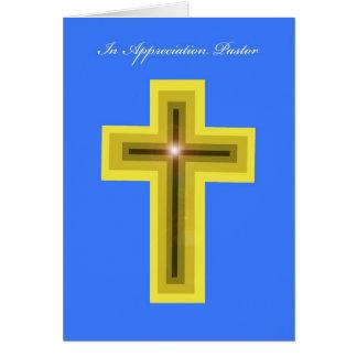 Pastor Appreciation Card -- Cross