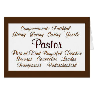 Pastor Attributes Card