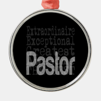 Pastor Extraordinaire Silver-Colored Round Decoration