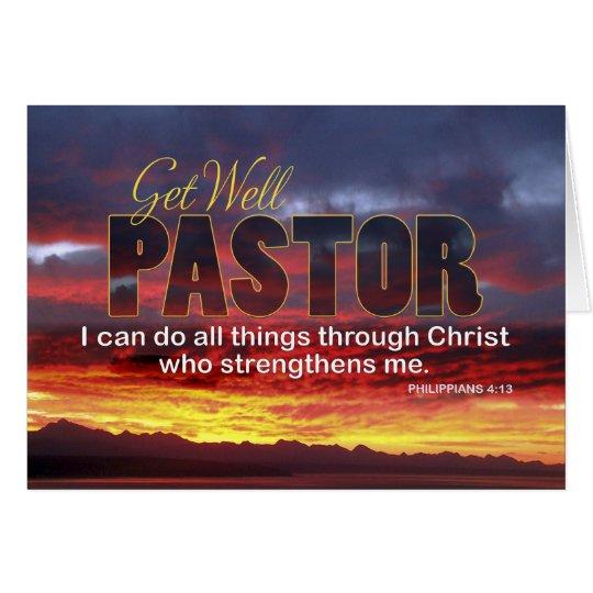Pastor Get Well, Scripture Sunset Card