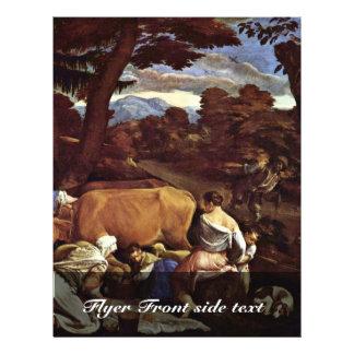 Pastoral Scene By Ponte Jacopo Da (Best Quality) 21.5 Cm X 28 Cm Flyer