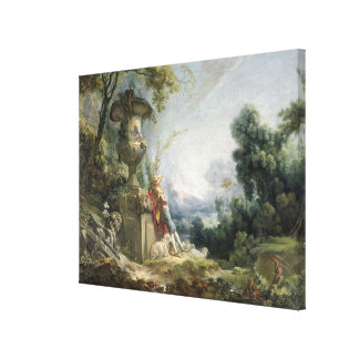 Pastoral Scene, or Young Shepherd in a Landscape Canvas Print