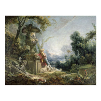 Pastoral Scene, or Young Shepherd in a Landscape Postcard