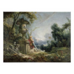 Pastoral Scene, or Young Shepherd in a Landscape Posters