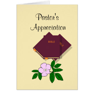 Pastor's Appreciation Greeting Card