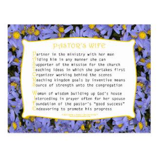 Pastor's Wife (Acrostic) Postcard