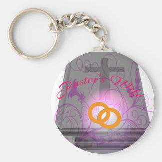 PASTOR'S WIFE CIR LT BASIC ROUND BUTTON KEY RING