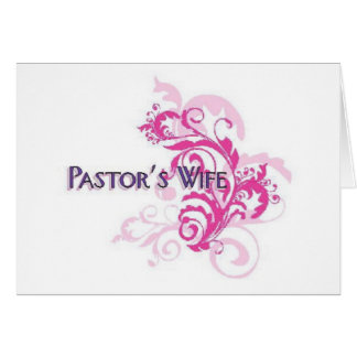 Pastors Wife Pink Greeting Card