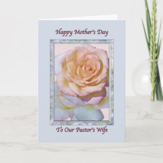 pastor s wife s mother s day card zazzle co uk