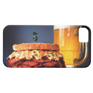 Pastrami sandwich with mug of beer case for the iPhone 5