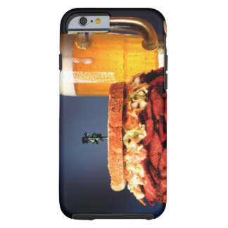 Pastrami sandwich with mug of beer tough iPhone 6 case