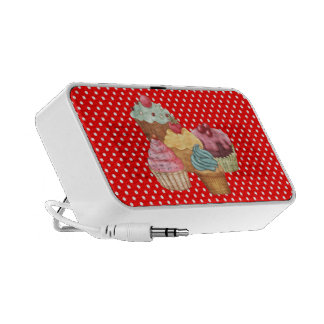 Pastries An Polkadots Doodle Portable Speakers