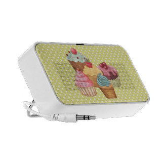Pastries An Polkadots Doodle Notebook Speaker