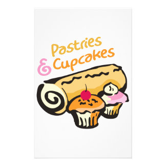 PASTRIES AND CUPCAKES STATIONERY DESIGN