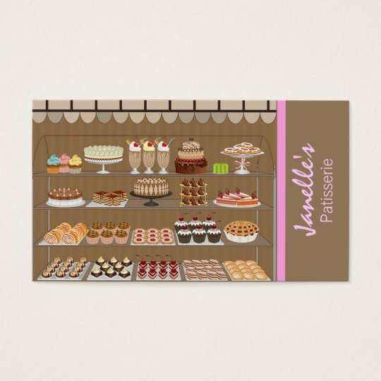 pastries business card