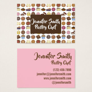 Pastry Chef Bakery Bake Shop Muffin Cake Pie Slice Business Card