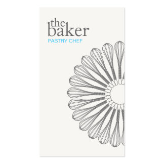 Pastry Chef Baking Whisk Modern Catering Pack Of Standard Business Cards