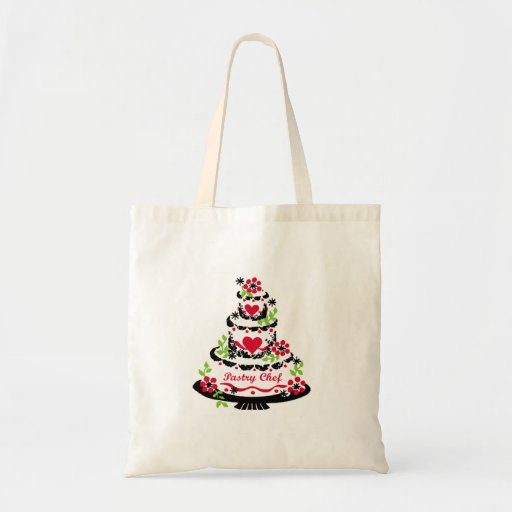Pastry Chef on Cake Tote Bags