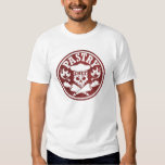 Pastry Chef Skull and Crossed Pastry Bags Red Shirts