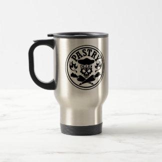Pastry Chef Skull Stainless Steel Travel Mug