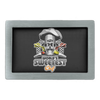 Pastry Chef: Sweetest Chef Rectangular Belt Buckles