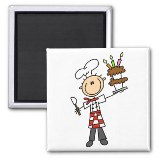 Pastry Chef Tshirts and Gifts Square Magnet