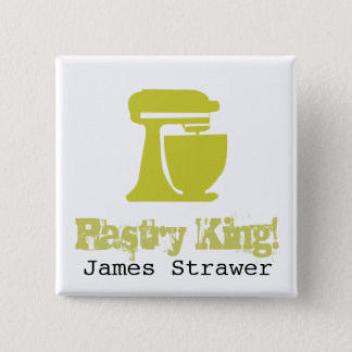 Pastry King 15 Cm Square Badge