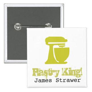 Pastry King 15 Cm Square Badge