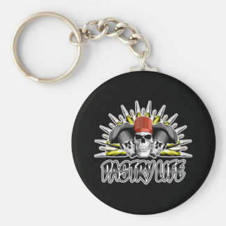 Pastry Life Basic Round Button Key Ring