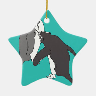 Pastures Blue and Bright Christmas Ornament
