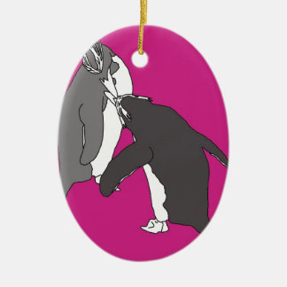 Pastures Pink and Bright Christmas Ornament