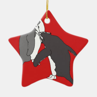 Pastures Red and Bright Christmas Ornament