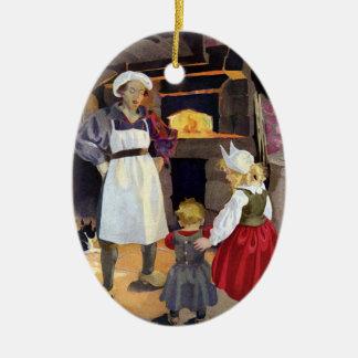 Pat-A-Cake Baker and Children Nursery Rhyme Christmas Ornament