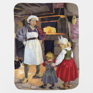 Pat-A-Cake Baker and Children Nursery Rhyme Receiving Blanket