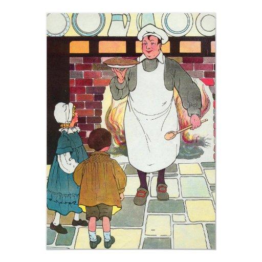 Pat-a-cake, pat-a-cake, Baker's man! 13 Cm X 18 Cm Invitation Card