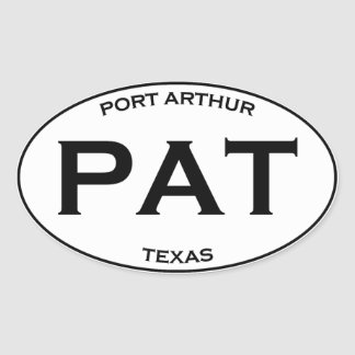 PAT - Port Arthur Texas Oval Sticker