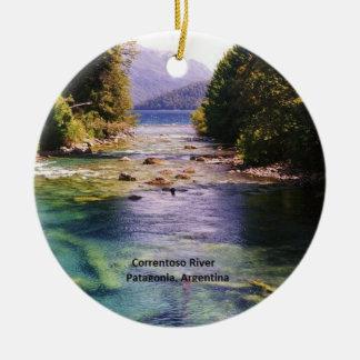 Patagonia, Argentina - Correntoso River Christmas Ornament