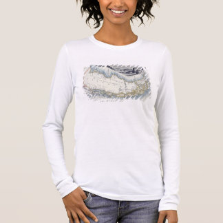 Patagonia, from a Series of World Maps published b Long Sleeve T-Shirt
