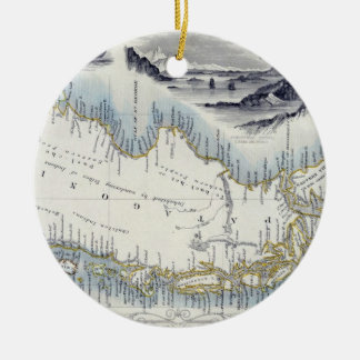 Patagonia, from a Series of World Maps published b Round Ceramic Decoration