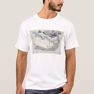 Patagonia, from a Series of World Maps published b T-Shirt