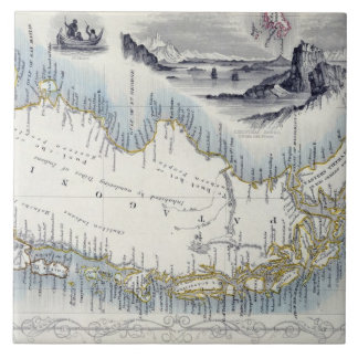 Patagonia, from a Series of World Maps published b Tile